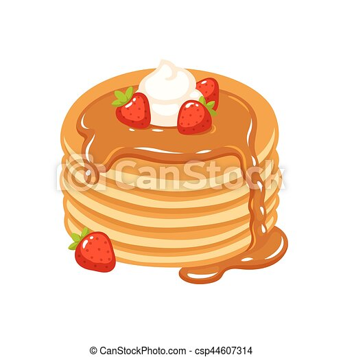 pancakes with strawberries traditional pancakes with strawberries rh canstockphoto com pancake clipart png pancake clipart png