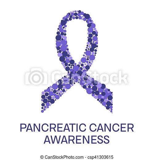 Pancreatic Cancer Ribbon Poster Pancreatic Cancer Awareness Poster