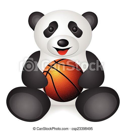 panda basketball ball - csp23398495