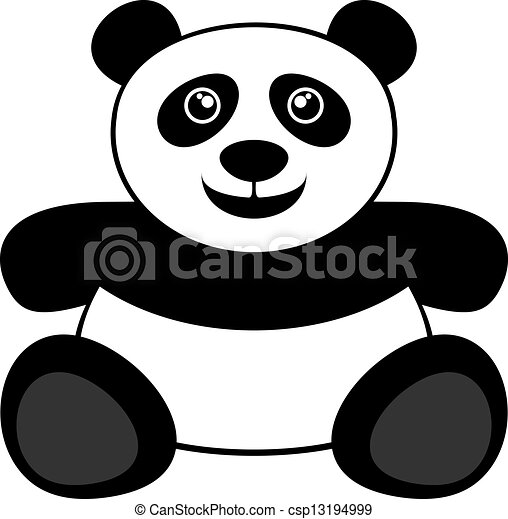 creative design of panda bear eps vectors search clip art rh canstockphoto com panda bear clipart black and white panda bear face clip art