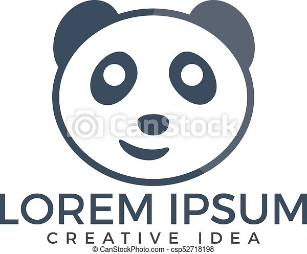 panda bear logo design vector template creative panda eps