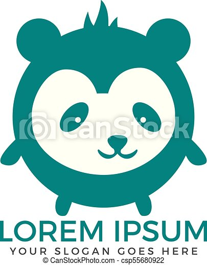 panda bear logo design vector template