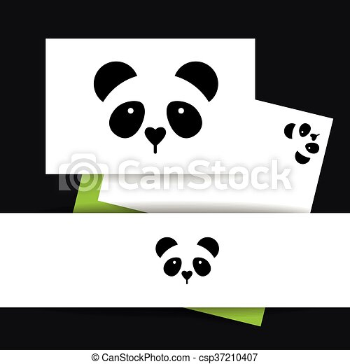 panda bear template csp37210407