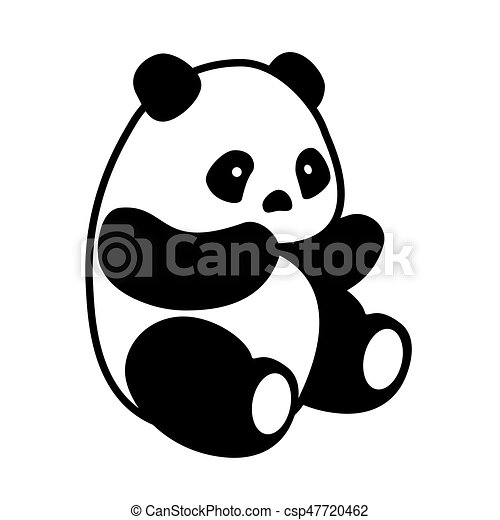 panda bear vector vector illustration cute cartoon asian panda bear