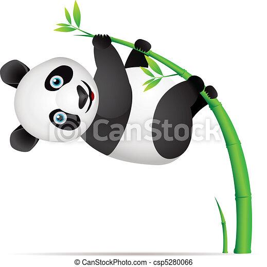 Panda cartoon - csp5280066
