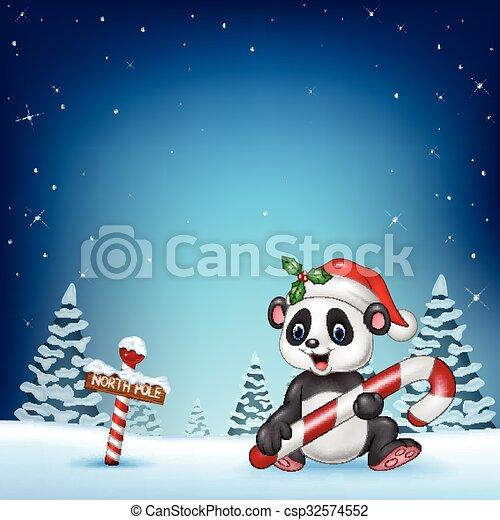 Un panda divertido sentado - csp32574552