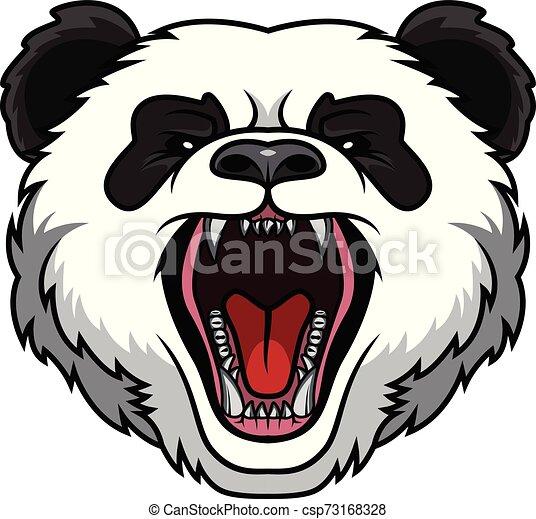 panda head mascot - csp73168328