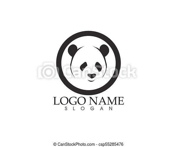 Panda Logo And Symbols Template Icons App