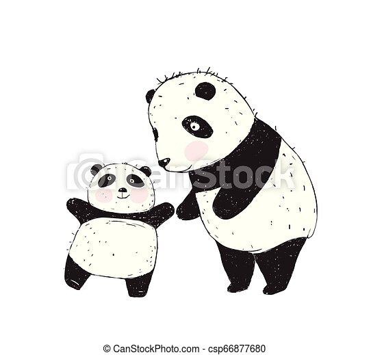 Panda Mother and Baby - csp66877680