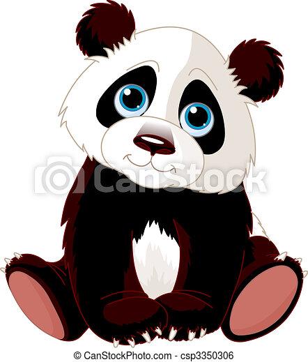 panda, seduta - csp3350306