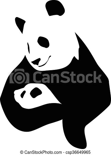 Panda with a little baby - csp36649965