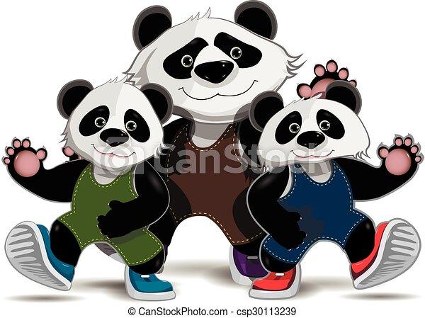 pandas, familie - csp30113239