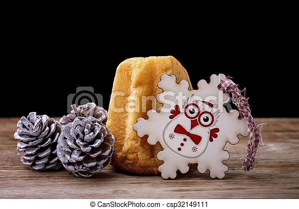 Pandoro Kuchen Eule Kiefer Pandoro Holz Kegel Kuchen