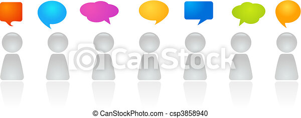 Panel discussion - csp3858940