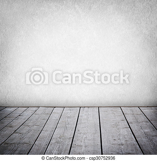 paneled, grunge, mur, plancher, room., bois, intérieur - csp30752936