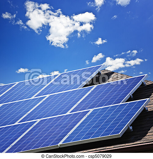paneler, sol - csp5079029