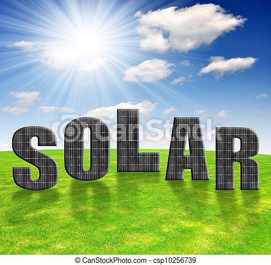 Paneles de energía solares - csp10256739