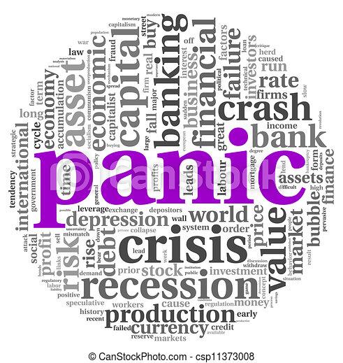 Panic concept on white - csp11373008