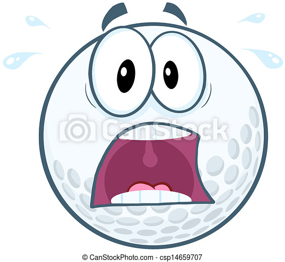 panic golf ball character panic golf ball cartoon mascot character
