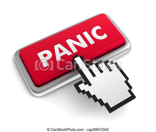 panic keyboard concept illustration - csp39910342