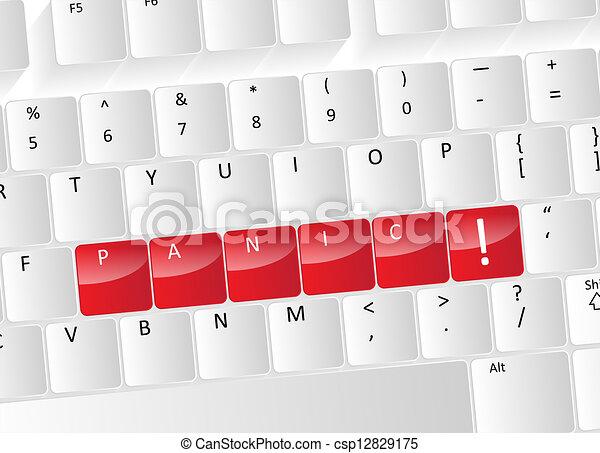 Panic Keyboard Concept - csp12829175