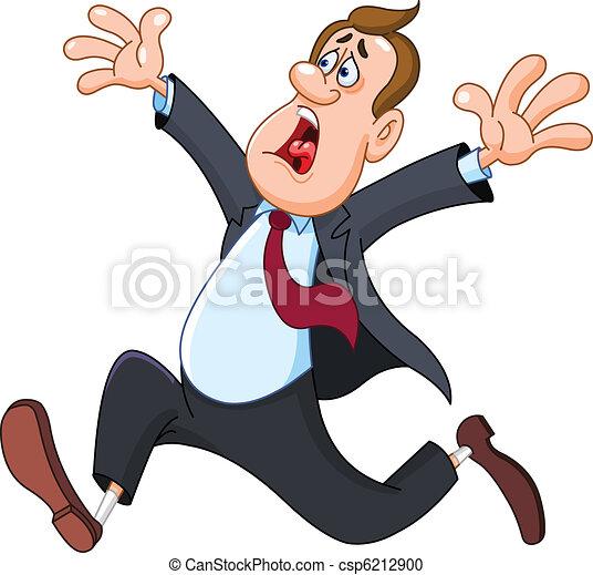 Panicked businessman - csp6212900