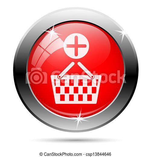panier, ajouter, achats, icône - csp13844646
