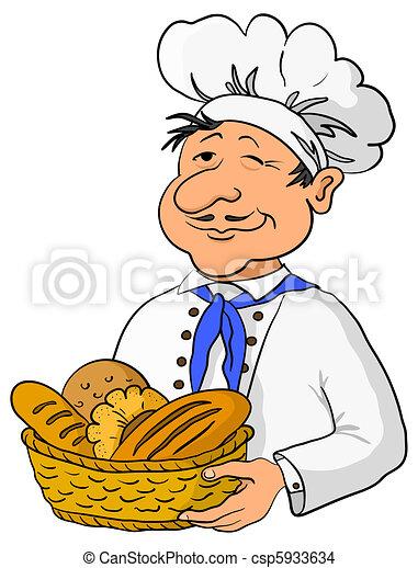 Panier Boulanger Pain Boulanger Casquette Cuisinier