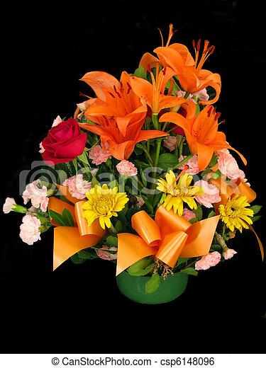 panier, fleurs - csp6148096