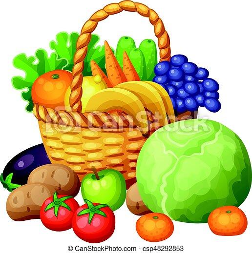 Panier Légumes Fruits