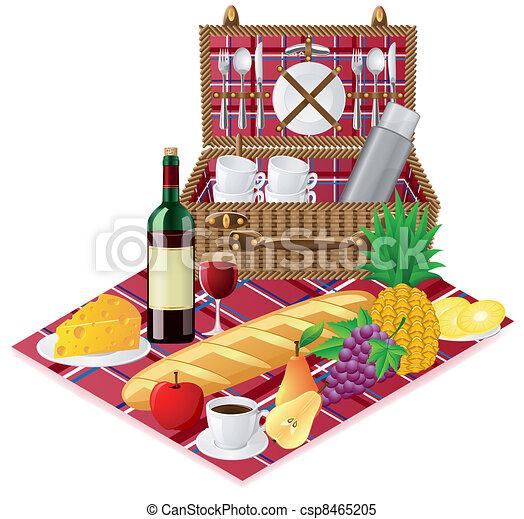 panier vaisselle pique nique pique nique vaisselle clipart vectoriel rechercher. Black Bedroom Furniture Sets. Home Design Ideas
