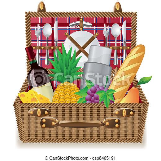 panier vaisselle pique nique pique nique vaisselle clipart vectoris recherchez. Black Bedroom Furniture Sets. Home Design Ideas