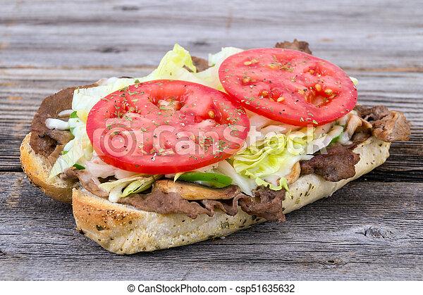panino bistecca, sub, manzo - csp51635632
