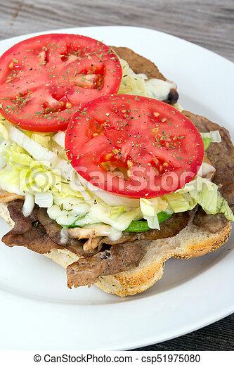 panino bistecca, sub, manzo - csp51975080
