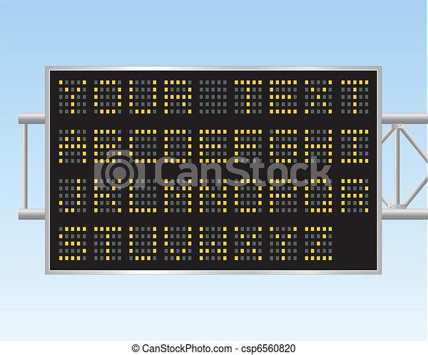panneau affichage, électronique - csp6560820