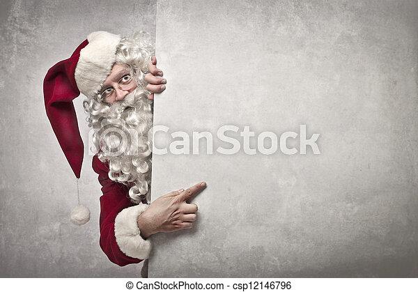 panneau affichage, claus, santa - csp12146796