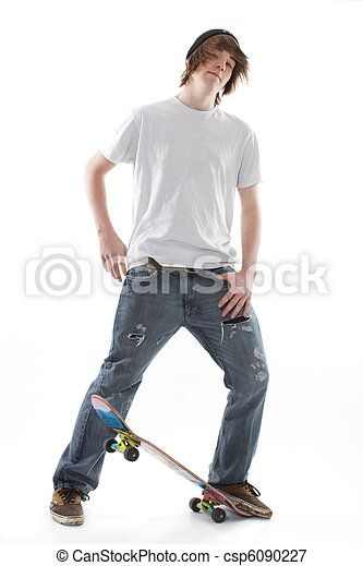 panneau patin, adolescent - csp6090227