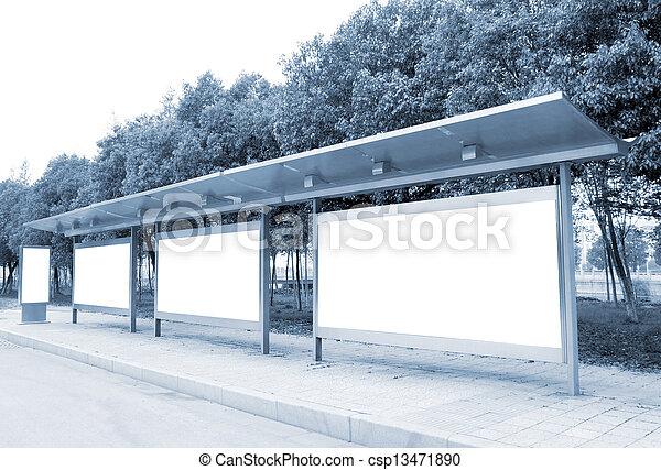 panneaux affichage, bord route - csp13471890