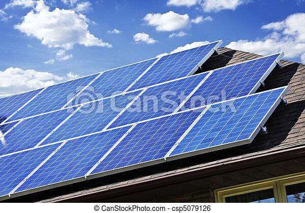 panneaux, solaire - csp5079126