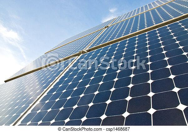 panneaux, solaire - csp1468687
