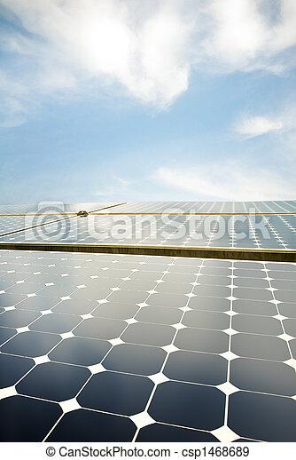 panneaux, solaire - csp1468689