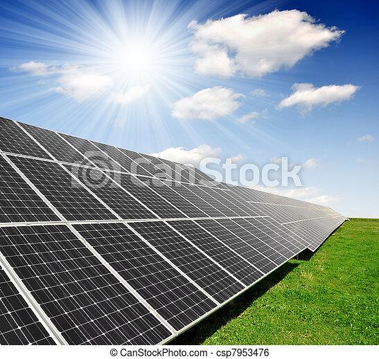 panneaux solaires, énergie - csp7953476