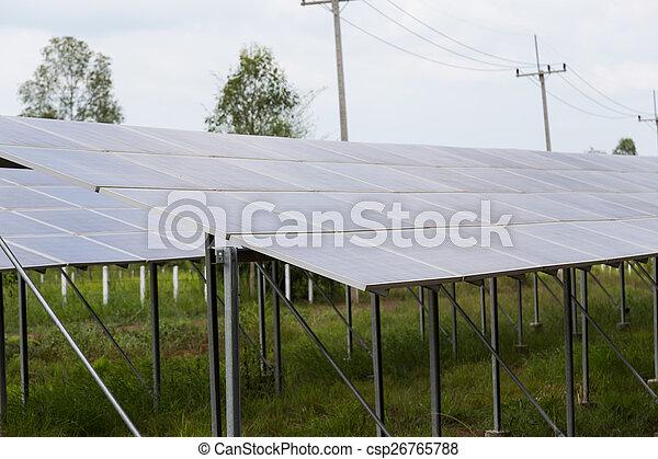 panneaux solaires, énergie - csp26765788