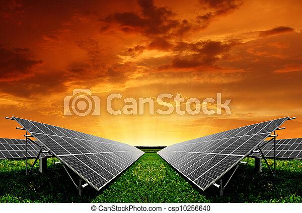 panneaux solaires, énergie - csp10256640