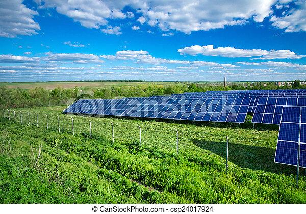 panneaux solaires, énergie - csp24017924