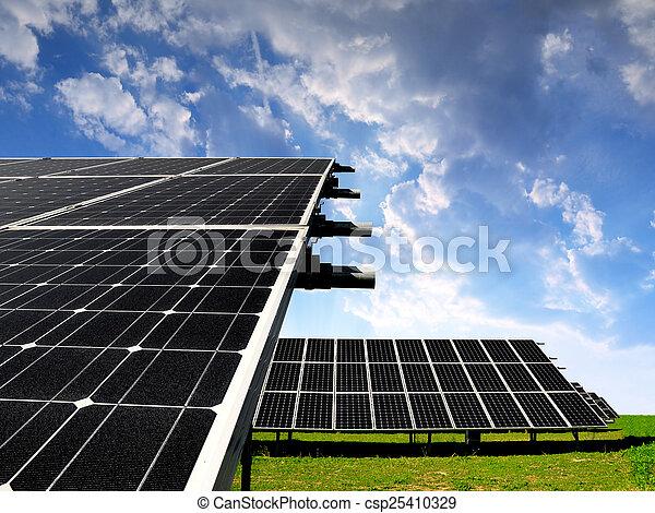 panneaux solaires, énergie - csp25410329