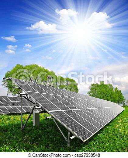 panneaux solaires, énergie - csp27338548