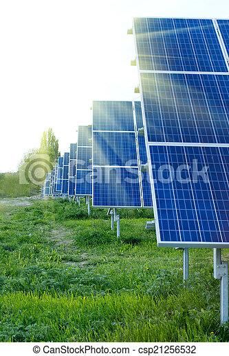 panneaux solaires, énergie - csp21256532
