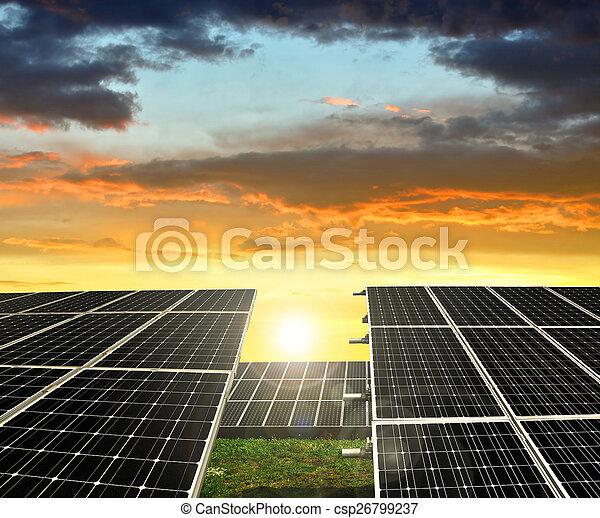 panneaux solaires, énergie - csp26799237