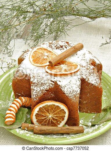 Panneton decorated with orange slices - csp7737052